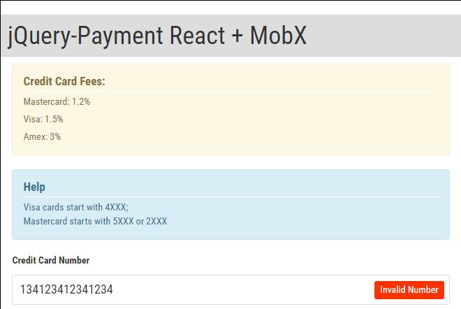 使用React、MobX和jQuery实现的支付表单模板 - 踏得网