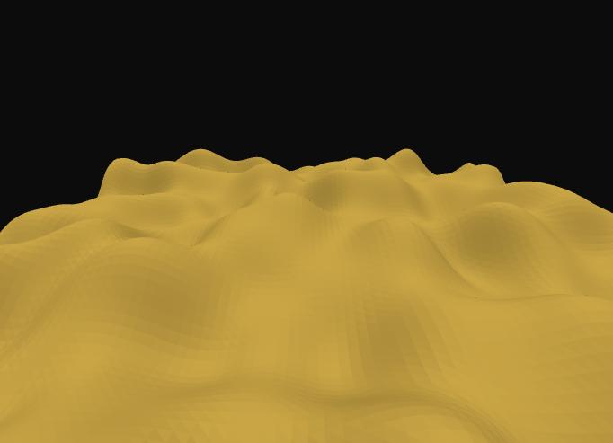 使用Three js和Simplex-noise实现的三维波动曲面动画 - 踏得网
