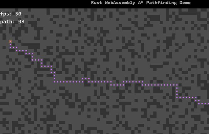 基于webassembly(wasm)实现的高性能实时A*路径查找动画 - 踏得网